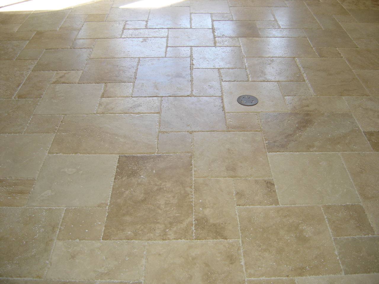 Tile Metrics Travertine French Patternsll Tile Metrics Waterjet Inlays